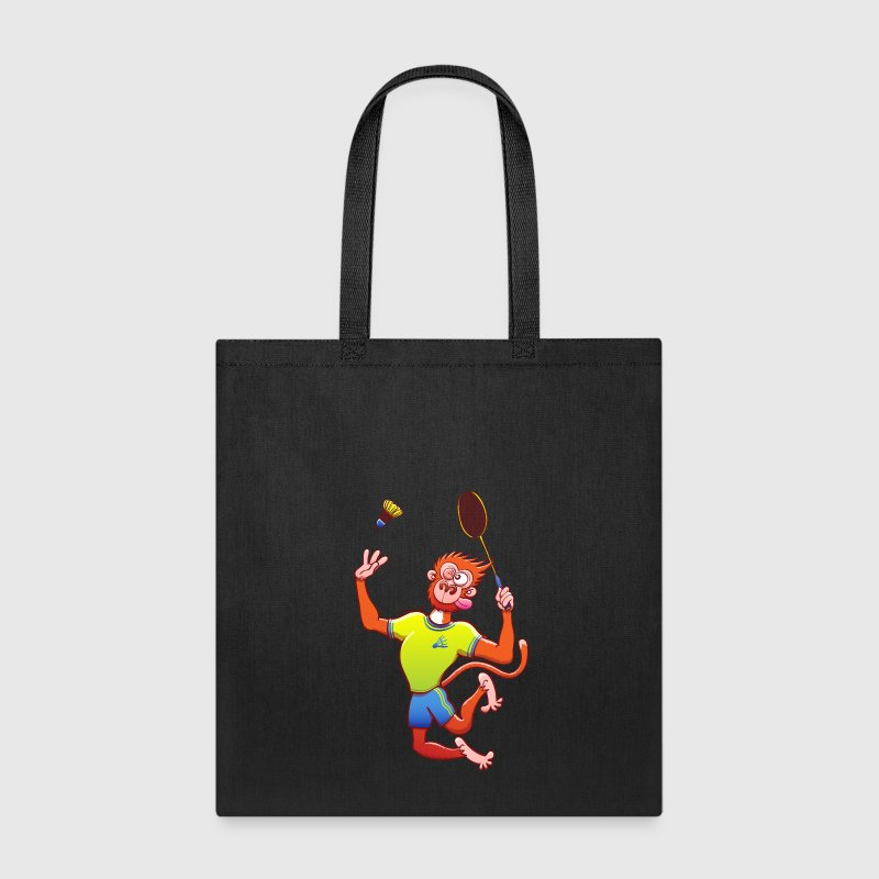 Red Monkey Playing Badminton Bags & backpacks - Tote Bag
