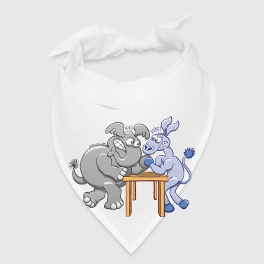 Arm Wrestling Donkey vs Elephant Mugs & Drinkware - Bandana