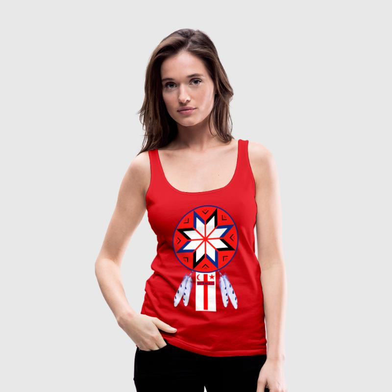 Tripartite Mi'Kmaq Forum Symbol and Flag - Women's Premium Tank Top