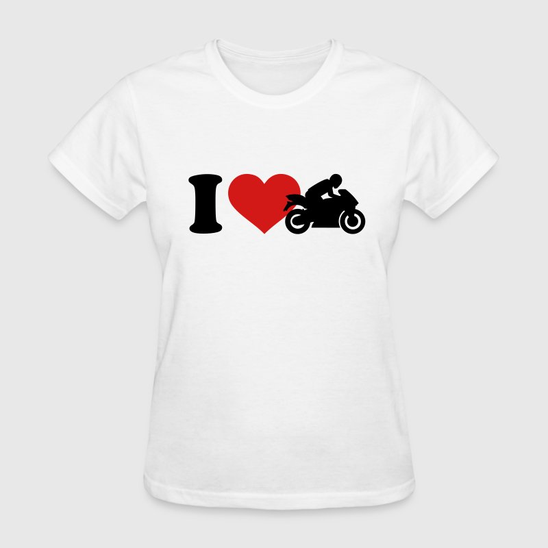I love Motorcycle Women's T-Shirts - Women's T-Shirt