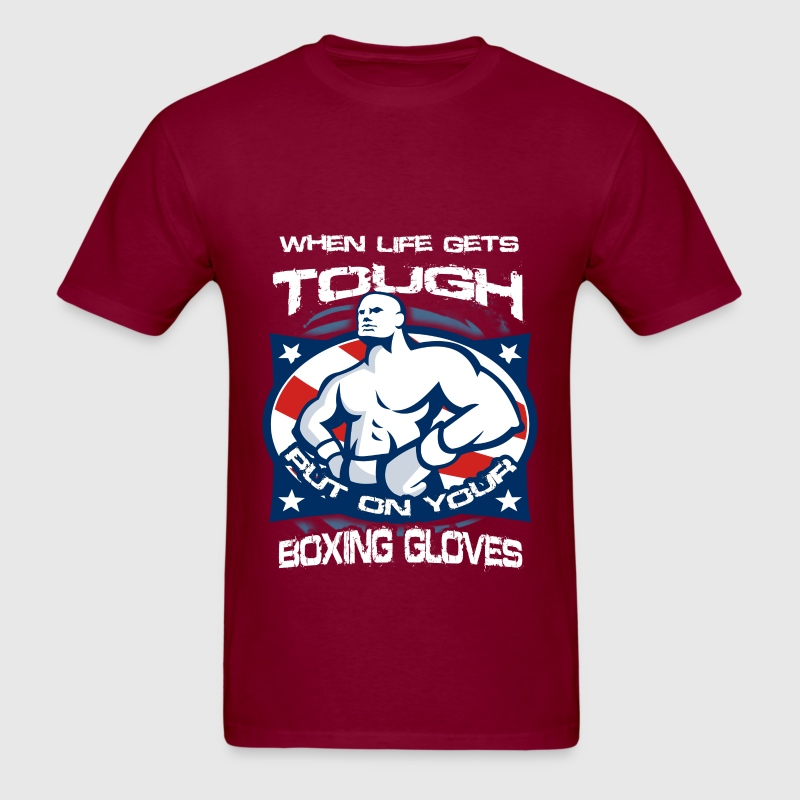 Boxing - Life is tough - Men's T-Shirt