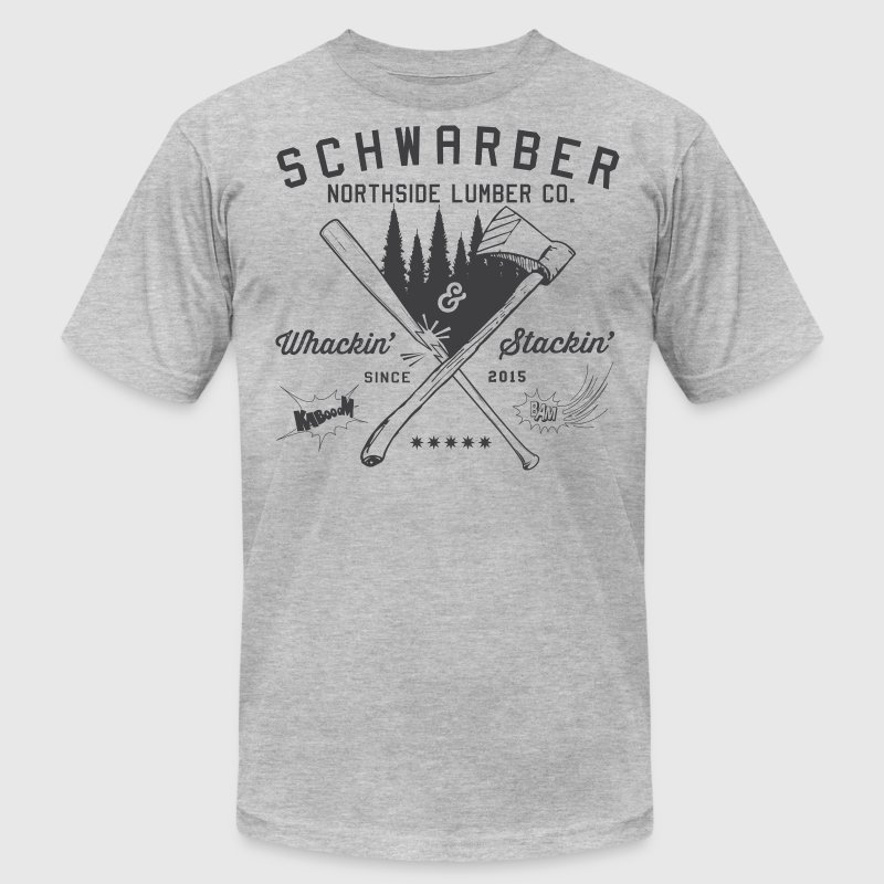 Schwarber Lumber Co - Men's T-Shirt by American Apparel