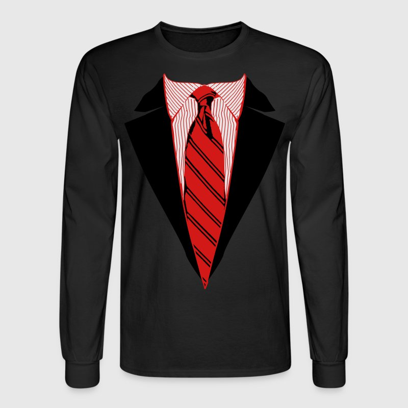 Suit and Tie Tee, Coat and Tie T-shirt Long Sleeve Shirts - Men's Long Sleeve T-Shirt
