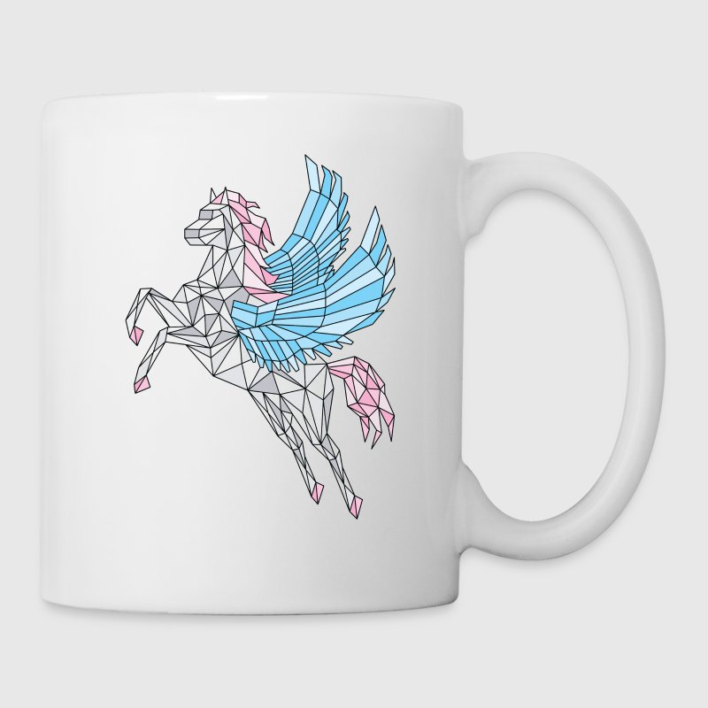 Geometric Pegasus (blue) Mugs & Drinkware - Coffee/Tea Mug