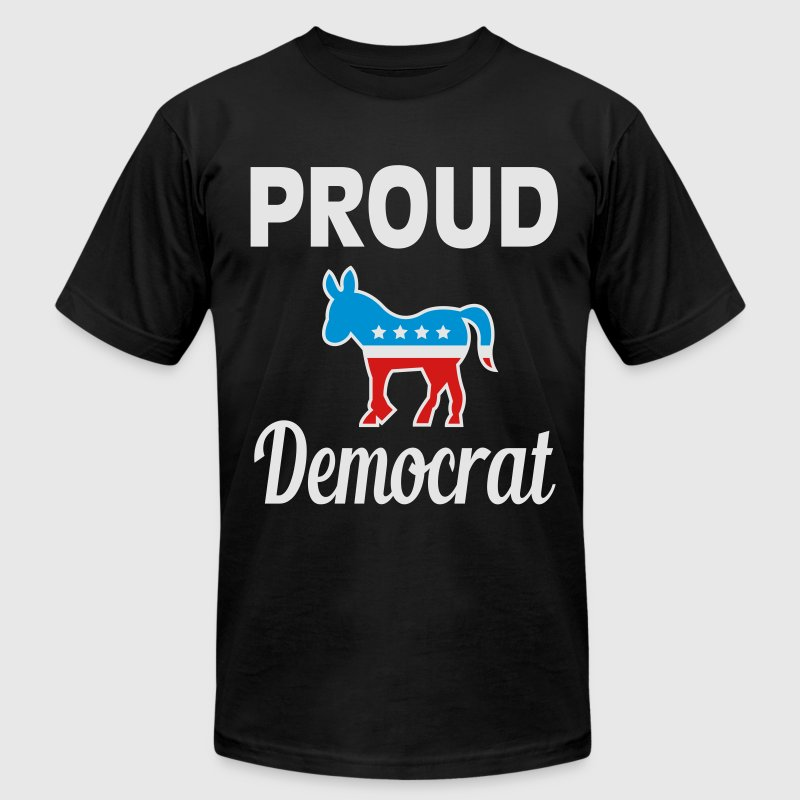 Proud democrat T-Shirts - Men's T-Shirt by American Apparel