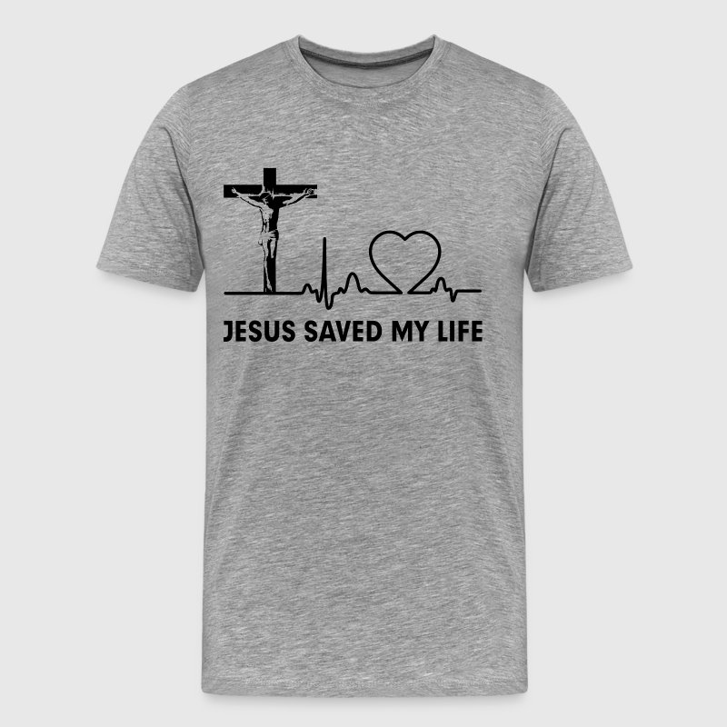 Jesus Saved My Life Cross Christian  T-Shirts - Men's Premium T-Shirt