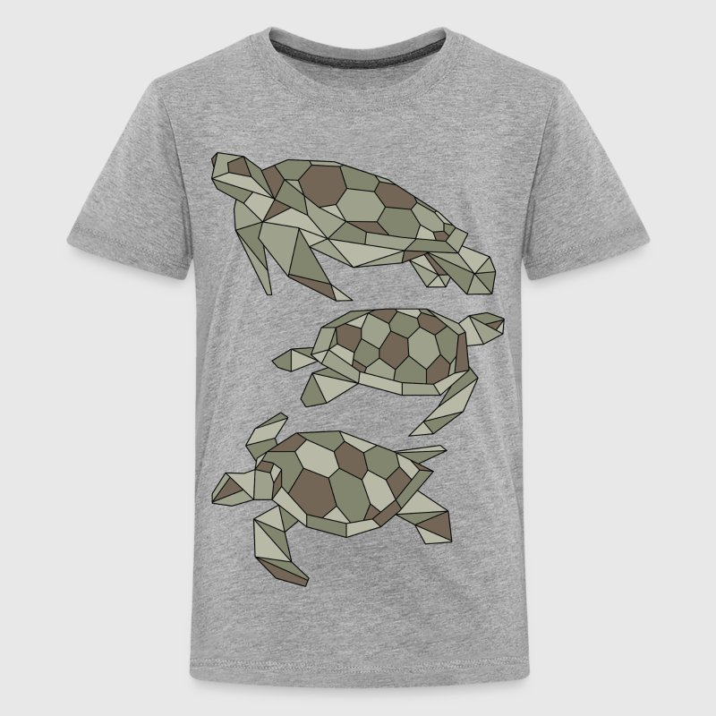 Geometric Turtles Kids' Shirts - Kids' Premium T-Shirt