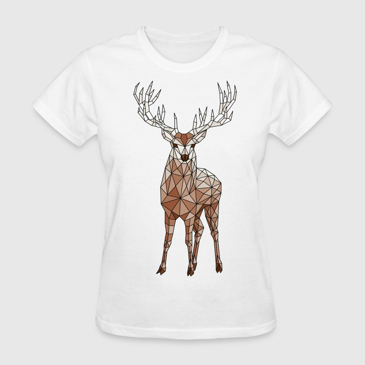 Geometric Deer T Shirt