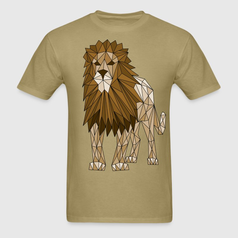 Geometric Lion T-Shirts - Men's T-Shirt