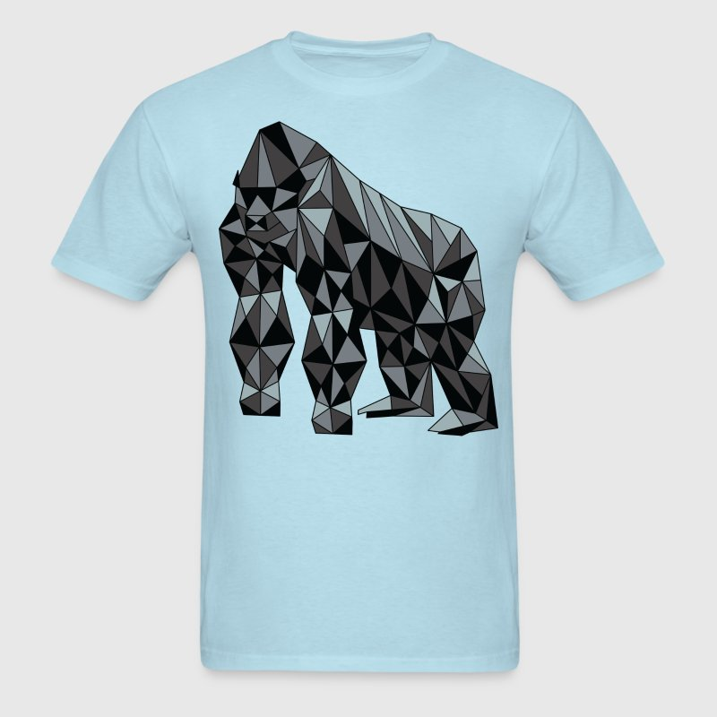 Geometric Gorilla T-Shirts - Men's T-Shirt