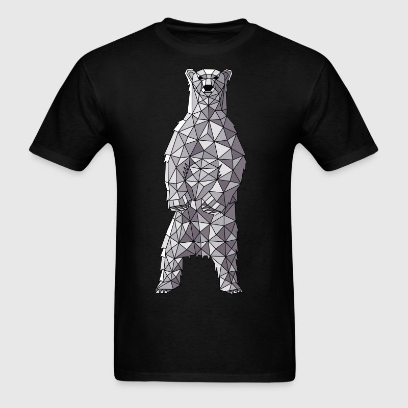 Geometric Polar Bear T-Shirts - Men's T-Shirt