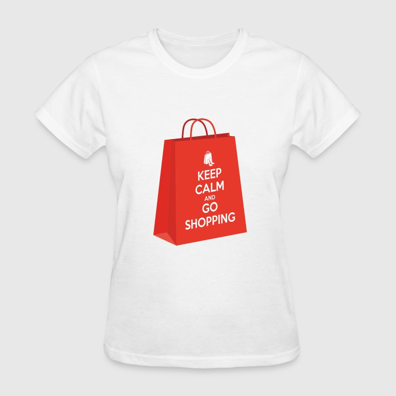 Keep calm and go shopping Women's T-Shirts - Women's T-Shirt