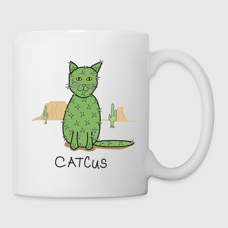 Catcus Cactus in Desert Mugs & Drinkware - Coffee/Tea Mug