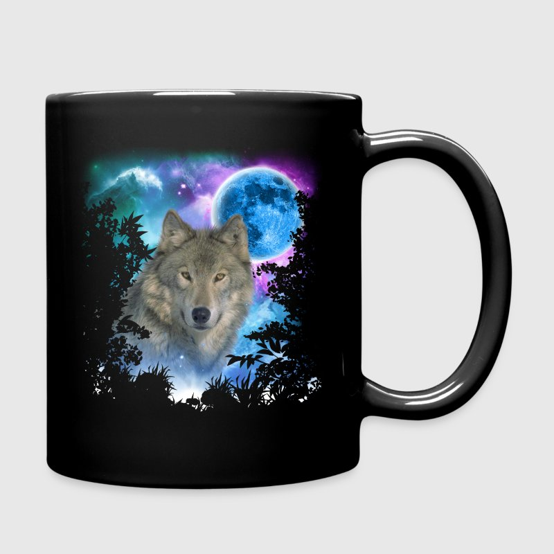 Grey Wolf MidNight Forest Mugs & Drinkware - Full Color Mug