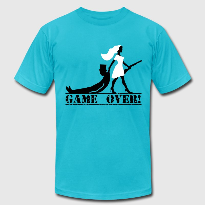 game over bride and groom T-Shirts - Men's Fine Jersey T-Shirt