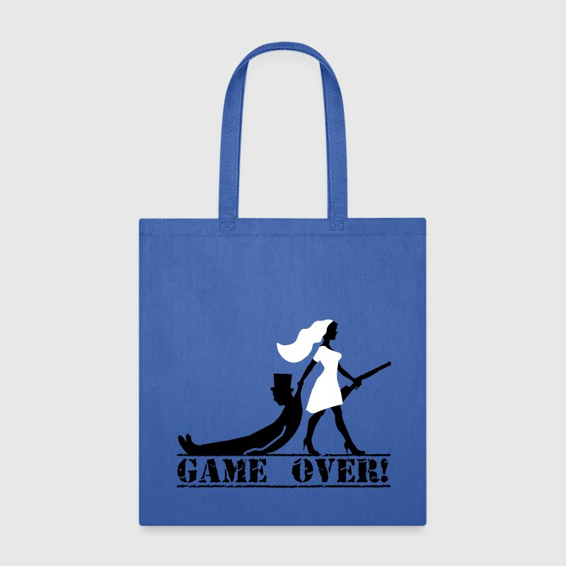 game over bride and groom Bags & backpacks - Tote Bag