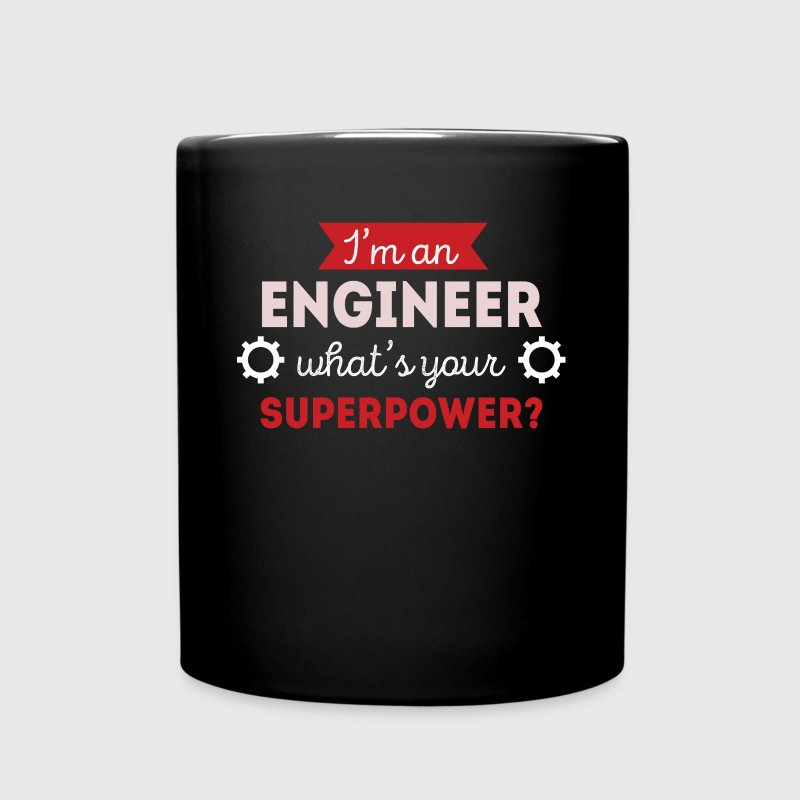 Engineer Superpower Profession Engineering T-shirt Mugs & Drinkware - Full Color Mug