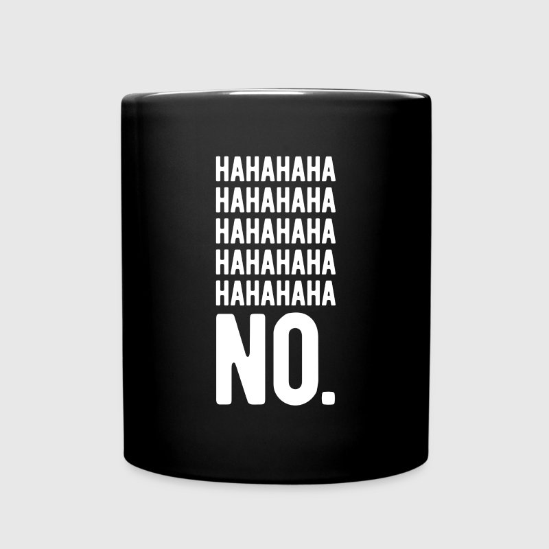 Awesome Gift Idea Hahaha No Funny T-shirt Mugs & Drinkware - Full Color Mug