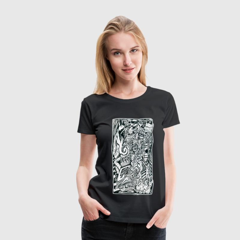 Anxiety Attack by Brian Benson - Women's Premium T-Shirt