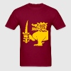 Burgundi Lion Shirt - Men's T-Shirt