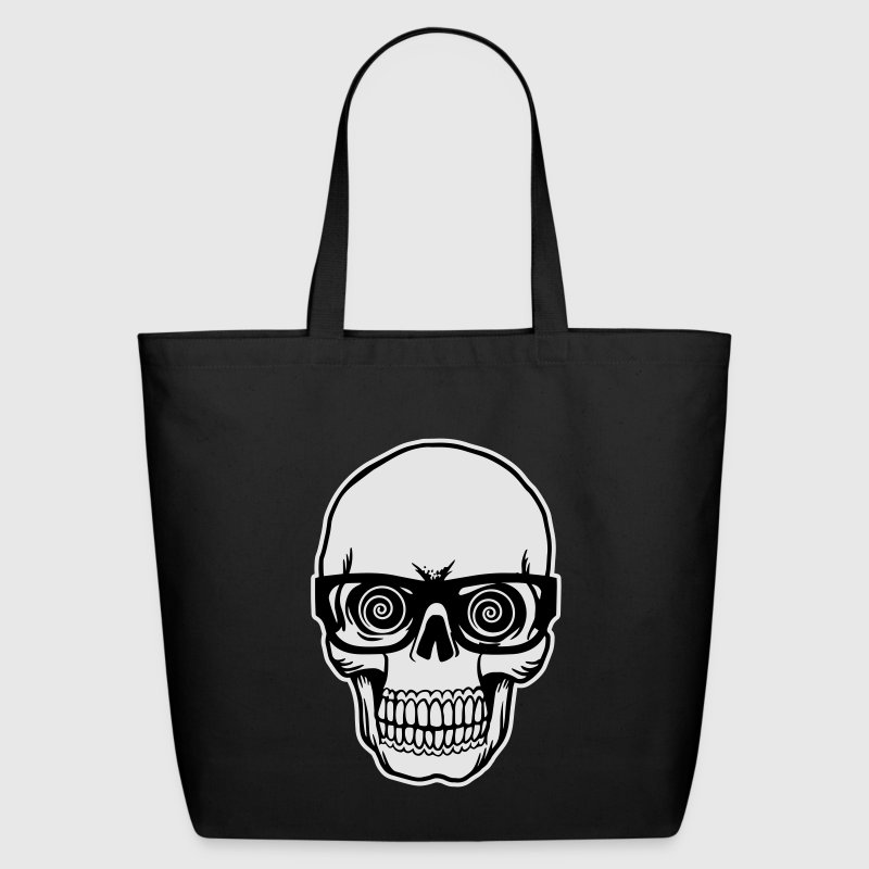 skull with glasses Bags & backpacks - Eco-Friendly Cotton Tote