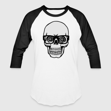 skull with glasses T-Shirts - Baseball T-Shirt