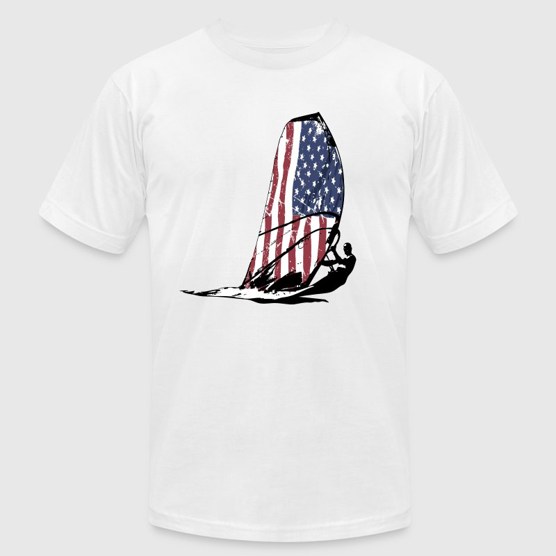 USA Surfing - Vintage Flag T-Shirts - Men's T-Shirt by American Apparel
