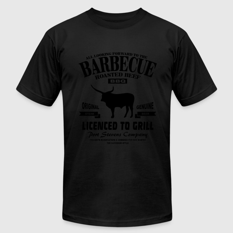 Barbecue  - BBQ T-Shirts - Men's Fine Jersey T-Shirt