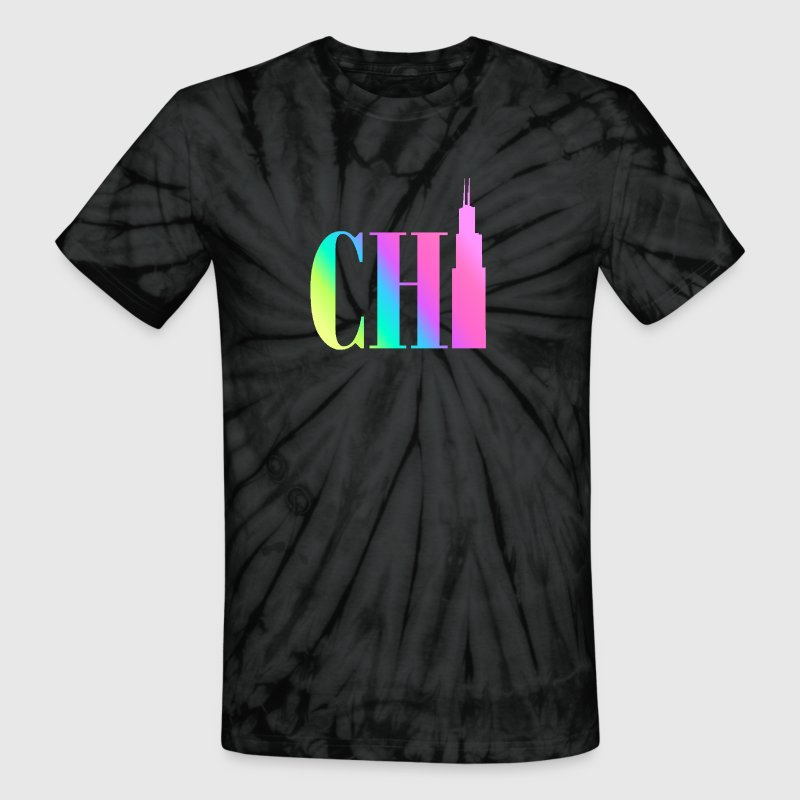 Chicago - Rainbow - Unisex Tie Dye T-Shirt
