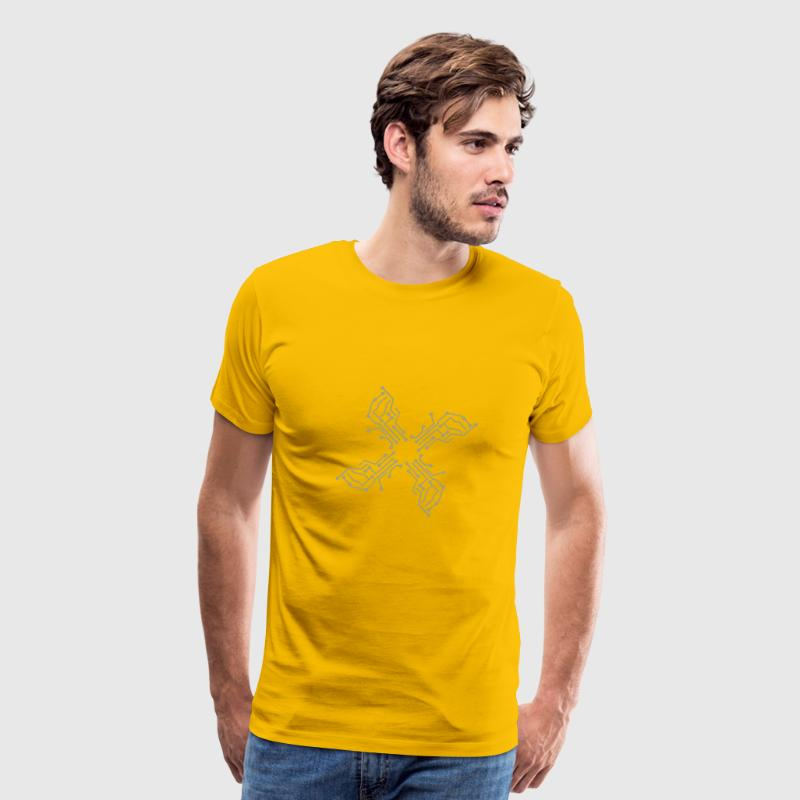 cool lines design circuitry technology lines micro T-Shirts - Men's Premium T-Shirt