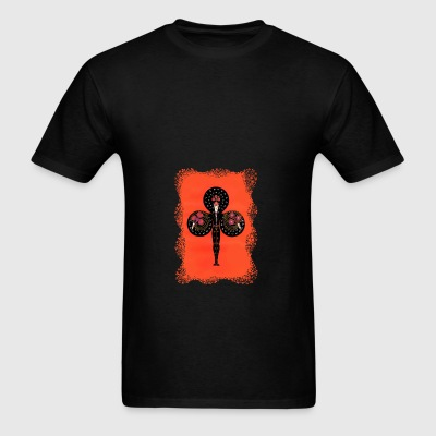 Ace Of Clubs Art Deco Black Bag - Men's T-Shirt