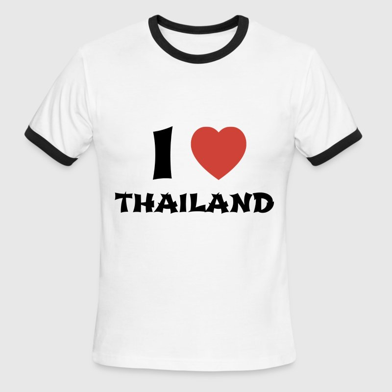 I Love Thailand - Ringer T-Shirt - Men's Ringer T-Shirt