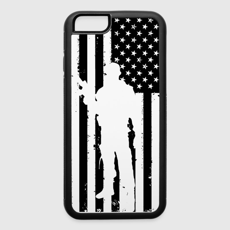 American Flag Soldier Iphone 6/6s case - iPhone 6/6s Rubber Case