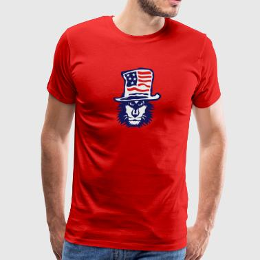 american flag hat lion ok Sportswear - Men's Premium T-Shirt