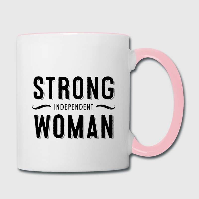 Strong Independent Woman Mugs & Drinkware - Contrast Coffee Mug