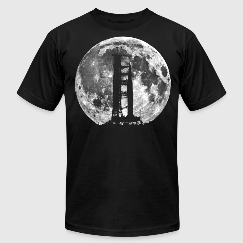 Saturn V Rocket Silhouette Moon t shirt - Men's Fine Jersey T-Shirt