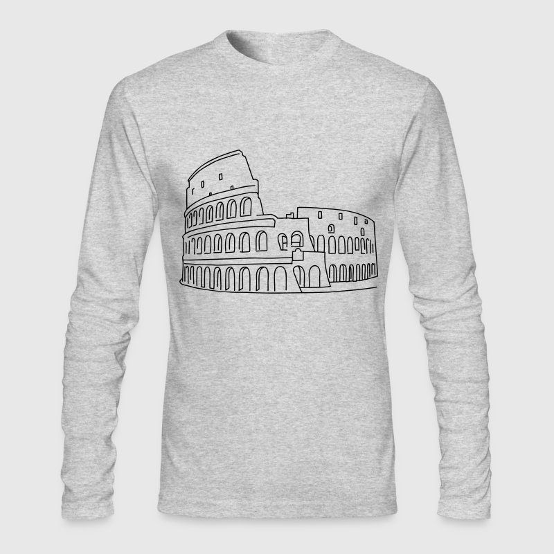 Colosseum in Rome Long Sleeve Shirts - Men's Long Sleeve T-Shirt by Next Level