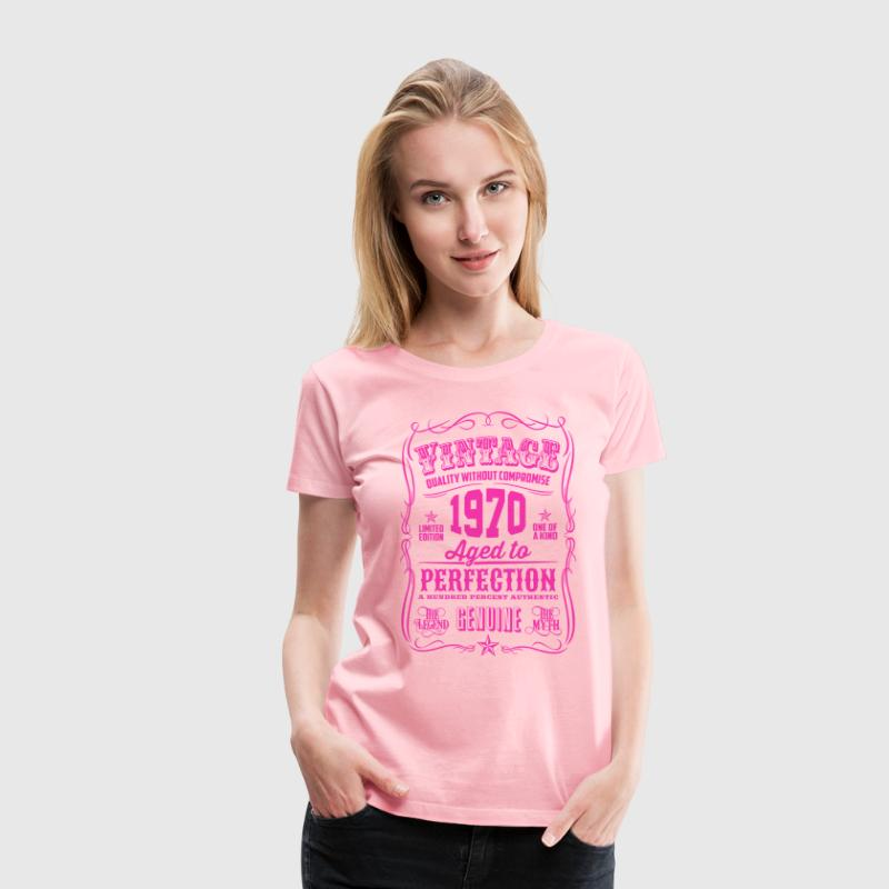 Vintage 1970 Aged to Perfection 46th Birthday - Women's Premium T-Shirt