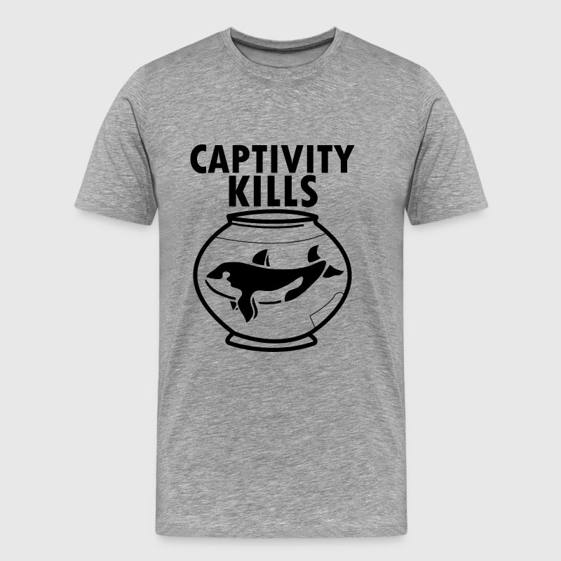 Captivity Kills Orca Whales shirt - Men's Premium T-Shirt