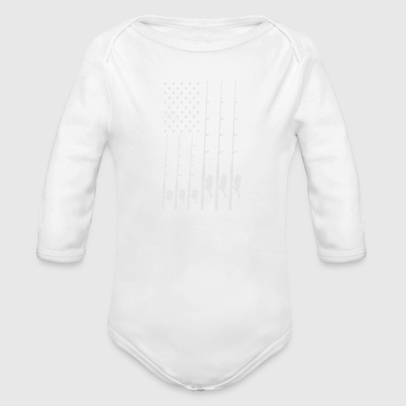 FISHING FLAG Baby Bodysuits - Long Sleeve Baby Bodysuit