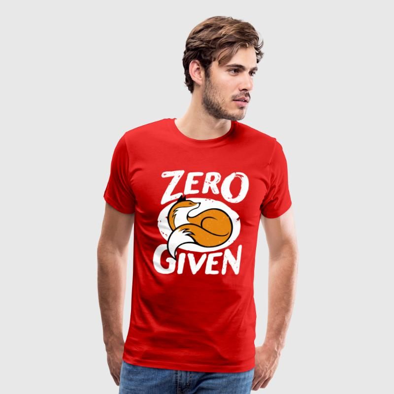 Zero fox given - Men's Premium T-Shirt