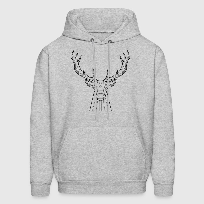 Black Deer - Animal Prism - Men's Hoodie