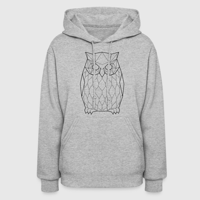 Black Owl - Animal Prism - Women's Hoodie