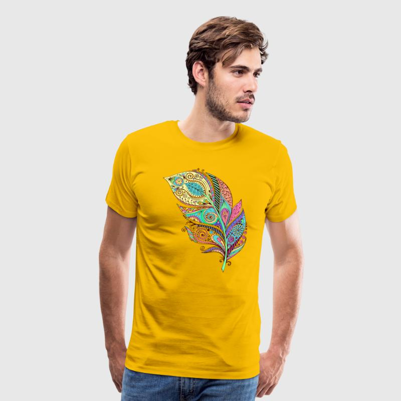 Colored Feather T-Shirts - Men's Premium T-Shirt