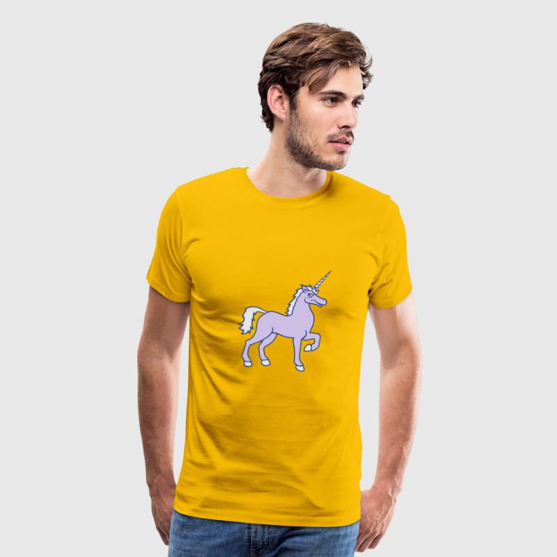 unicorn unicorn gay cool riding horse stallion equ T-Shirts - Men's Premium T-Shirt