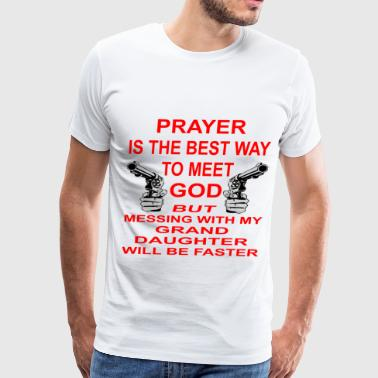 Meet God Messing With My Granddaughter - Men's Premium T-Shirt