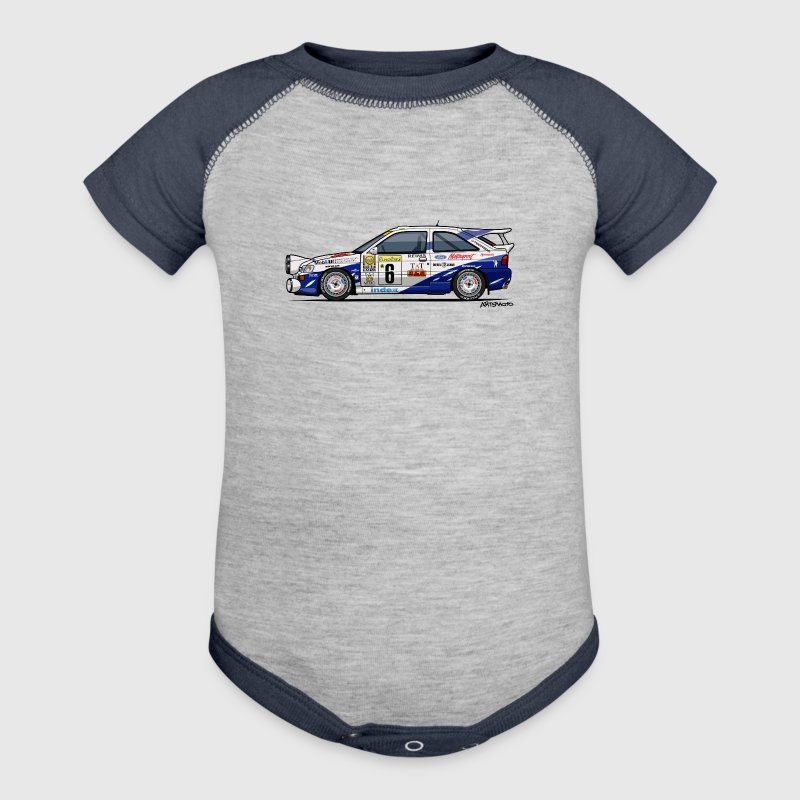 Ford Escort RS Cosworth Rally Monte Carlo Baby Bodysuits - Baby Contrast One Piece