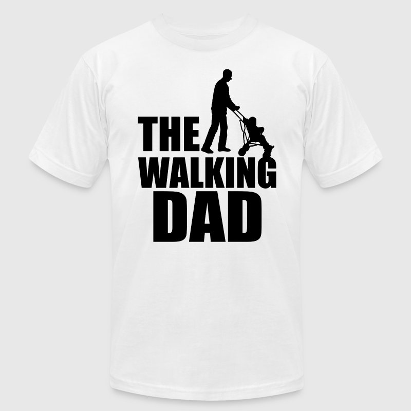 The Walking Dad funny men's shirt - Men's T-Shirt by American Apparel