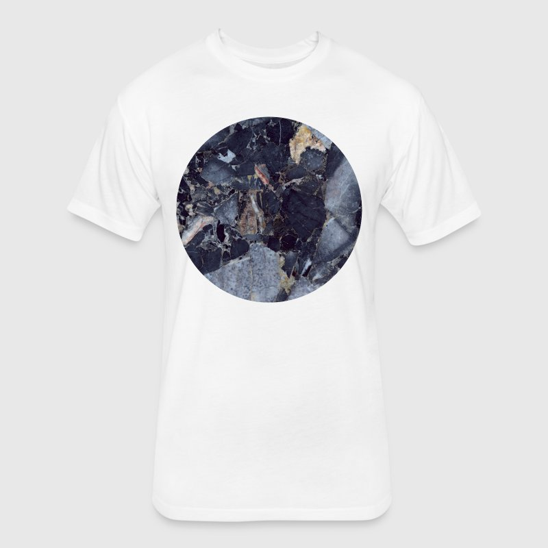 AD Blue Moon Marble T-Shirts - Fitted Cotton/Poly T-Shirt by Next Level