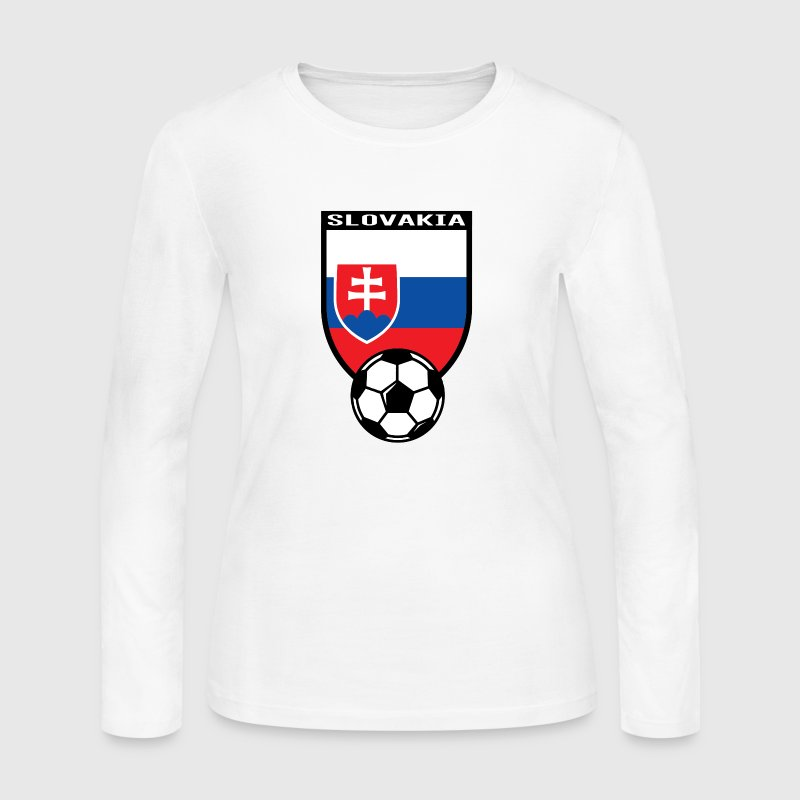 European Football Championship 2016 Slovakia Long Sleeve Shirts - Women's Long Sleeve Jersey T-Shirt